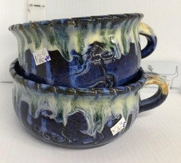 Blue/White Horse Soup Bowls #146 & #147