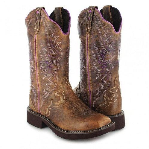 Justin Ladies Gypsy Raya Distressed Tan Waxy Boot