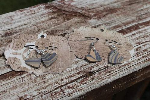 Small Clay Heart Earrings