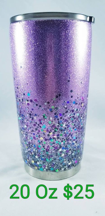 Double Glittered Tumbler