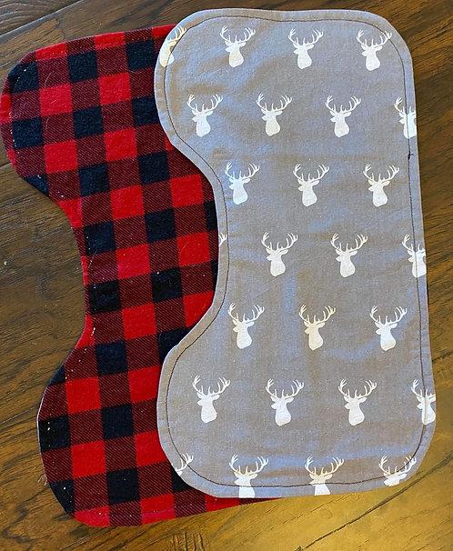 Dapper Deer Burp Cloths