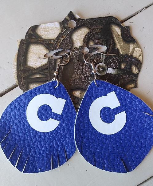 """Royal """"C"""" Earrings"""