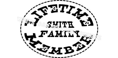 Lifetime Member SVG File