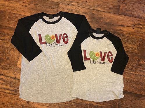 Love Like Jesus 3/4 Baseball Tee