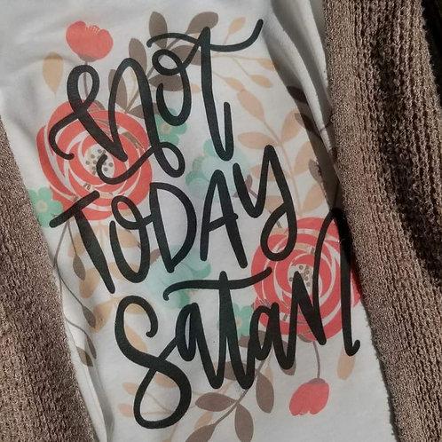 Not Today Satan V-Neck Tee