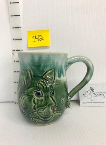 Kitty Green Mug #142