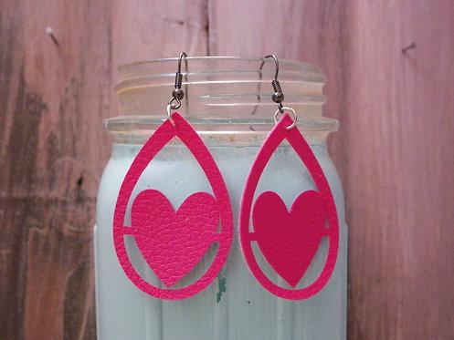 Rose Heart Teardrop Earrings