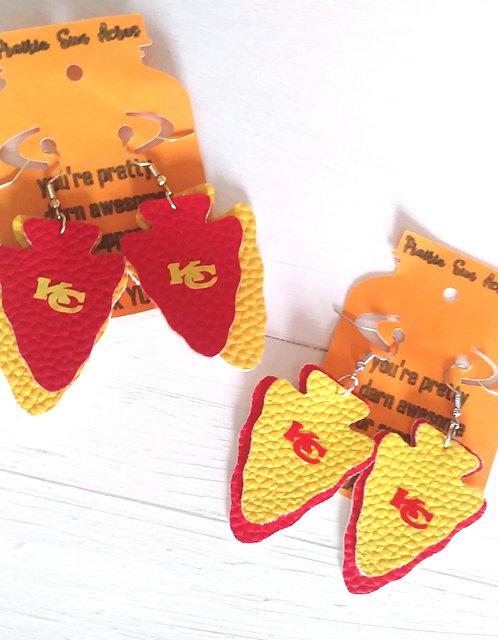 Red/Yellow Arrowhead Earrings