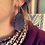 Thumbnail: Navy Boot Top Leather Earrings