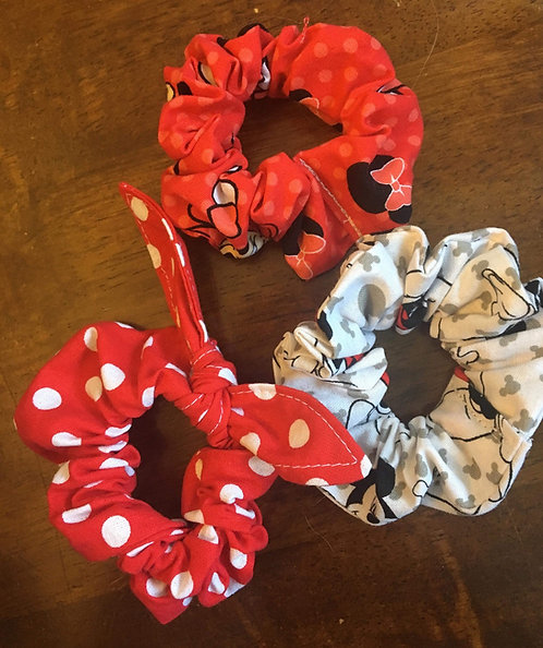Minnie/Mickey Scrunchie Set CHILD SIZE