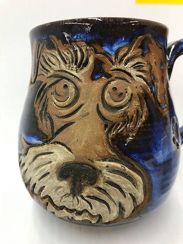 Dog Face Royal Blue Mug #116