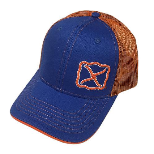 Twisted X Royal/Orange Snapback Cap