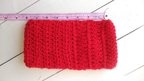 Solid Red Ear Warmer