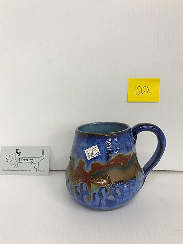 Blue/Brown Running Horses Mug #122
