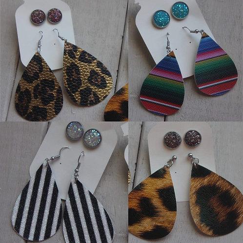 Druzy/Teardrop Earring Sets