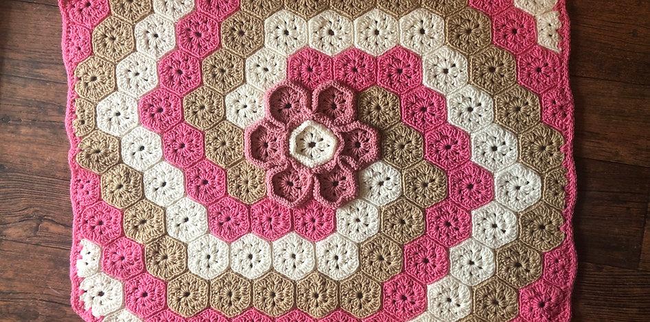 Flower Hexagon Throw