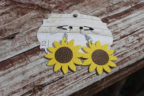 Small Sunflower Dangle Earrings