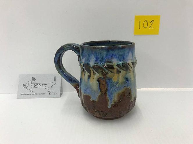 Bull Rider Blue/Brown Mug #102