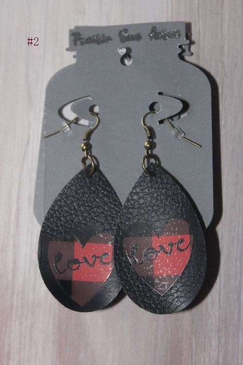 Love Buffalo Plaid Teardrop Earrings