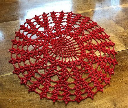 Red Medium Doilies