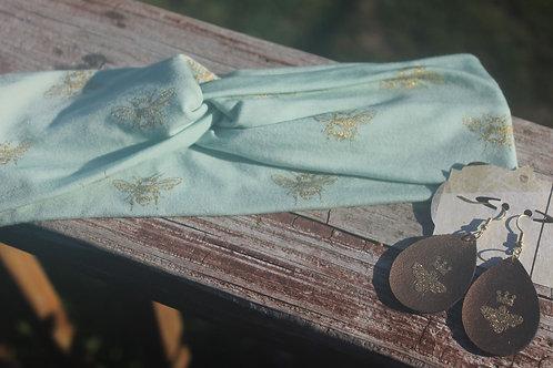 Mint Bumblebee Headwrap