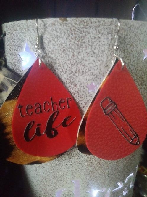 Teacher Life Earrings