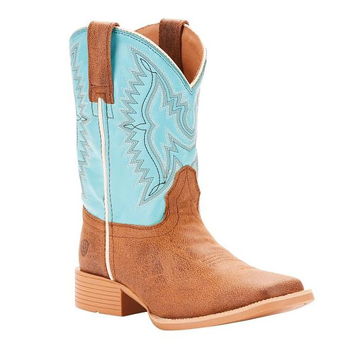 Ariat Children's Bristo Tan Tilt & Bustin Blue Cowboy Boots