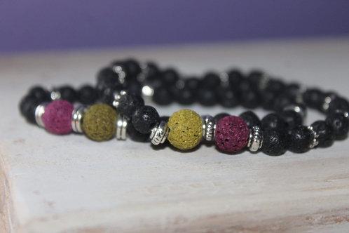 Mother/Daughter Lava Stone Bracelet Set