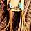 Thumbnail: Turquoise and Leather Tassel Earrings
