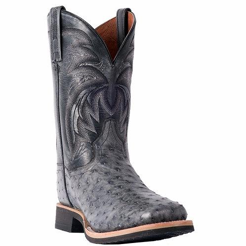 Dan Post Men's Philsgood Grey Full Quill Ostrich Boot