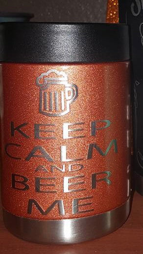 """Keep Calm"" Can Koozies"