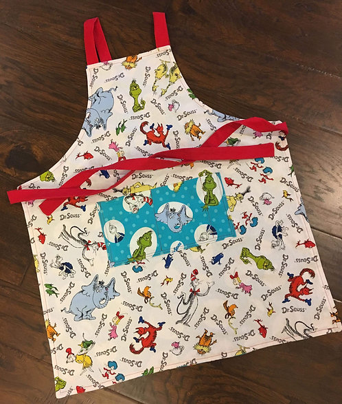 LIMITED EDITION Dr.Suess Reversible Child Apron