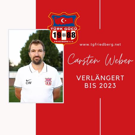 Unser Trainer Carsten Weber verlängert bis 2023