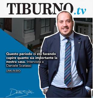 """""""Il binomio Italia-casa continuerà ad esistere e resistere"""": Daniele Scatassi al Tiburno.tv"""