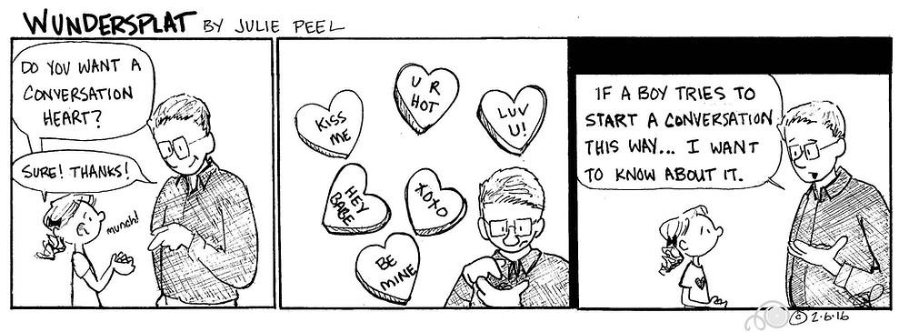 Funnies-Wundersplat Comic- Awkward conversation stoppers.