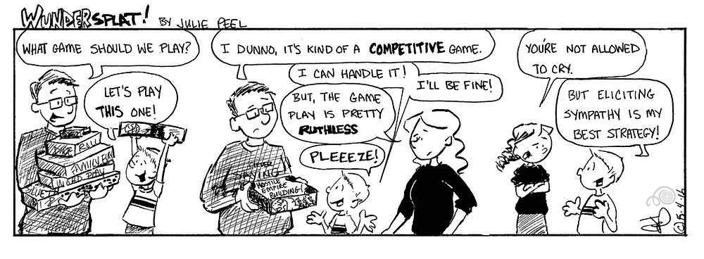 Humor-Funny Wundersplat Comic- Crying and board games, parenting.