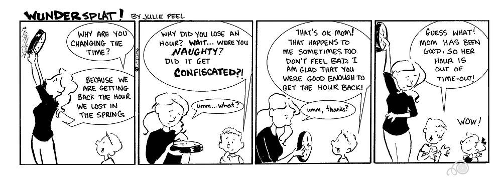 Humor-funny Wundersplat comic-Daylight Savings sime out