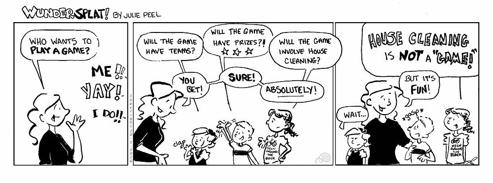 Humor-Funnny Wundersplat Comic-Parenting house cleaning games