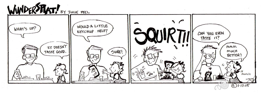 Funny Wundersplat comic where Ivy demonstrates her love for Ketchup.