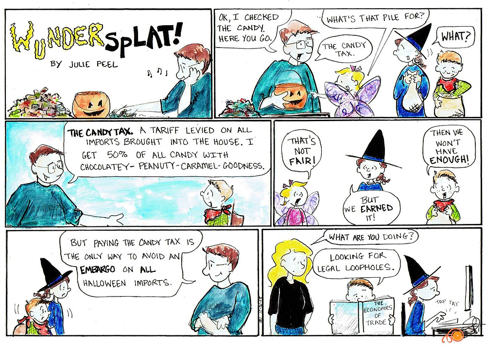 Halloween humor-Wundersplat Comic- Halloween Candy Tax.