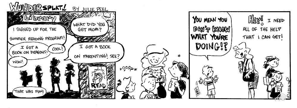 Humor-Funny Wundersplat Comic- Book on parenting advice.