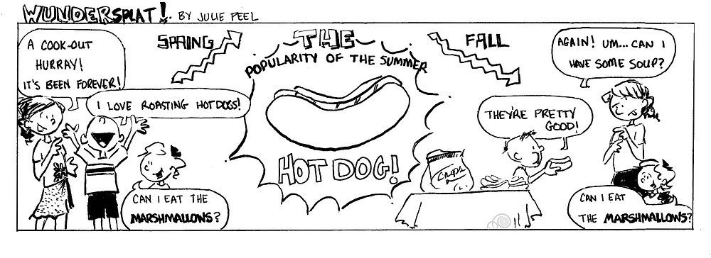 Humor-Funny Wundersplat comic- Fall and Summer food-hotdogs