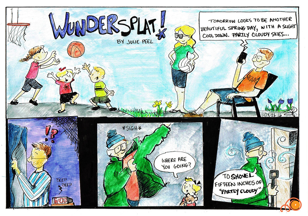 Funnies-Wundersplat-15 inches of partly cloudy