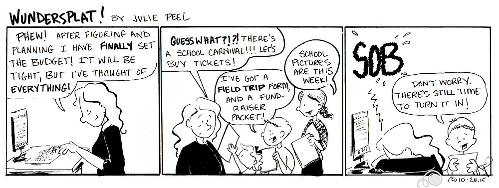 Funnies-Wundersplat Comic-Friday folder budget busters.