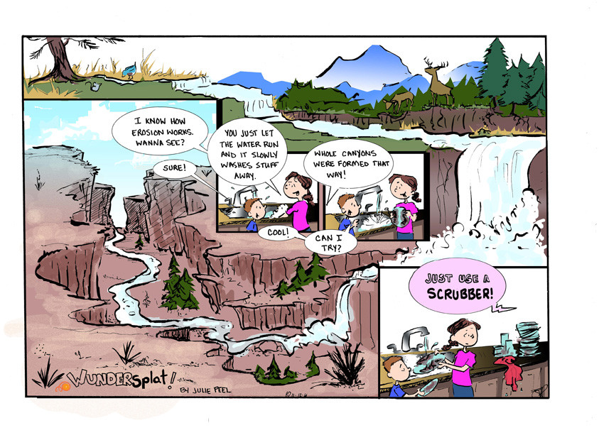 Humor- Funny Wundersplat Comic- Parenting dishes and running water