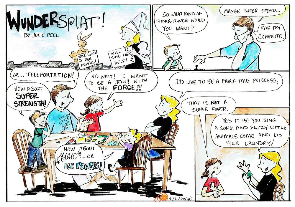Funnies-Wundersplat Comic- Is fairy princess a super power?