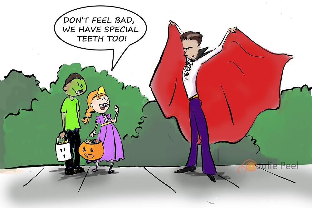 Halloween cartoon-Wundersplat-Dracula and Teeth problems