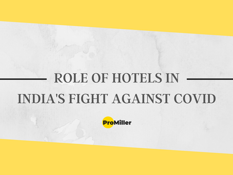 Role of Hotels in India's fight against COVID