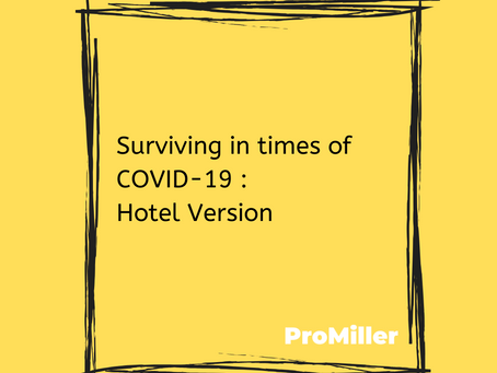 Surviving in times of COVID-19 : Hotel Version