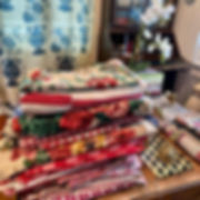 Vintage and antique reds and chintzes fo